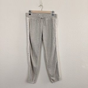 VimMia Grey Side Stripe Ribbed Workout Sweatpants